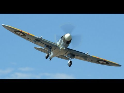 New Airfield 1400MM 5ch Brushless Spitfire Warbird with Retracts Review