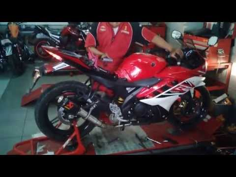 Yamaha R15 Knalpot Racing Akrapovic GP Lorenzo Carbon Mirip Suara Ninja (Motoralap Exhaust)