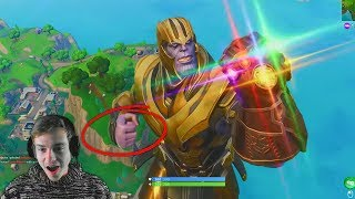 reacting to the first time you could play as THANOS in fortnite... (shocking)