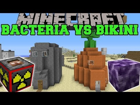 BACTERIA EXPLOSIVES+ MODS VS BIKINI BOTTOM Minecraft Mods Vs Maps Explosives Viruses