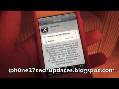 ultrasn0w 1.2.5 Unlocks iPhone 4 3G 3GS