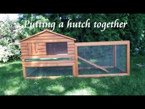 Putting a rabbit hutch together