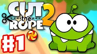 Cut the Rope 2 - Gameplay Walkthrough Part 1 - The Forest! 3 Stars! (iOS, Android)