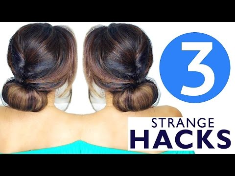 ★  3 STRANGE AF WAYS to do CUTE HAIRSTYLES | Hacks HAIRSTYLES