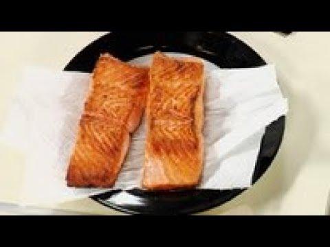 Как пожарить красную рыбу - видео