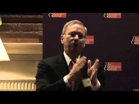 Google's Executive Chairman, Eric Schmidt at The Common Good, December 17th, 2014