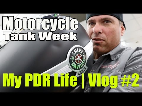 My PDR Life   Motorcycle Tank Dent Repair Week   Vlog #2