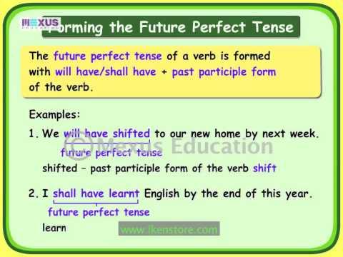 Verbs: Future Perfect Tense