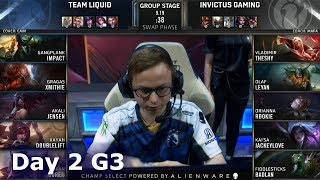 TL vs IG | Day 2 S9 LoL Worlds 2019 Group Stage | Team Liquid vs Invictus Gaming