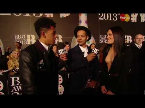 Jessie J Talks To Rizzle Kicks On The Red Carpet | BRITs 2013