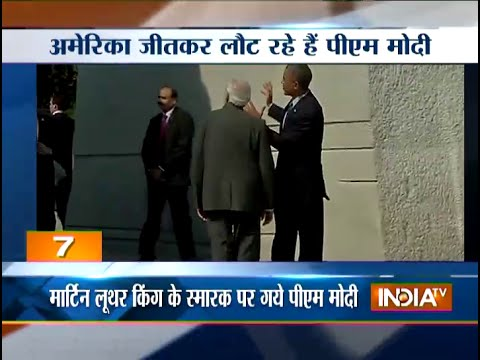 Narendra Modi, Barack Obama pay homage to Martin Luther King