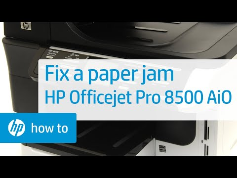 Fixing a Paper Jam - HP Officejet Pro 8500 Premier All-in-One Printer (A909n)