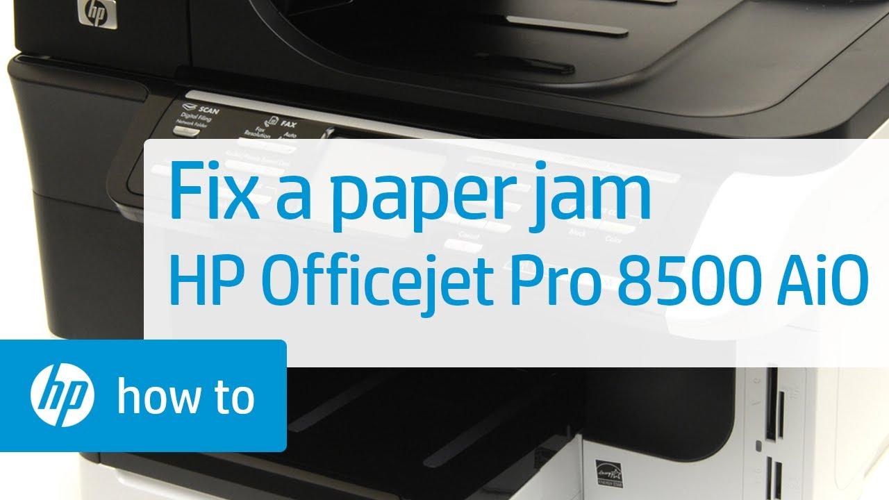 Paper Jam HP OfficeJet 8500