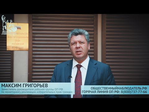 Максим Григорьев о ходе общественного наблюдения в Единый день голосования