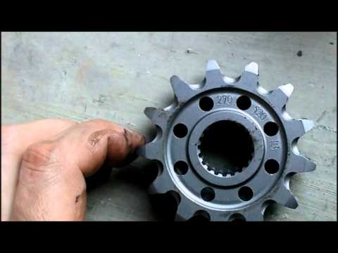 How to install or replace the front sprocket on a WR250R or WR250X sprocket and increase top speed