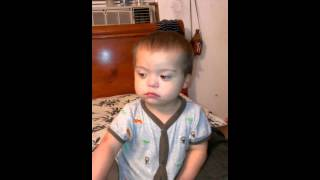 Puertorrican toddler Down Syndrome getting spooked