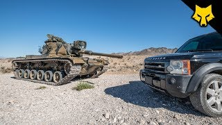Tank Round vs Land Rover