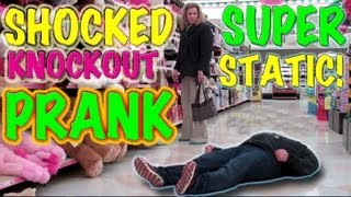 Shocked Knockout Super Static Shock Fainting Prank!