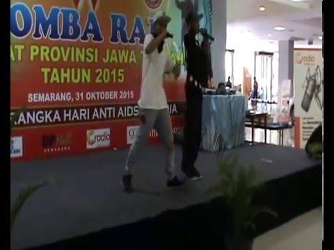 Nyong Indit feat Mr A -  No Sex No Drug!!!  Lomba Rap BKKBN 2015 at Semarang (Juara 2 )