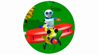 Cartoon for kids. Мультик про робота и самолетика Жужу. Aeroplane cartoon for kids
