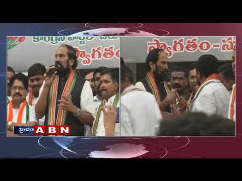 TS Tribal Student Leader and Team Joins in Congress Party in Presence of Uttam Kumar Reddy