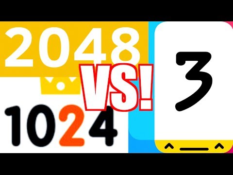 2048 vs 1024 vs THREES!!!  - The Puzzle Number Games