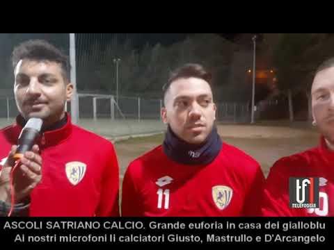 INTERVISTE ASCOLI con GIUSTO, MASTRULLO E D'ARCANGELO