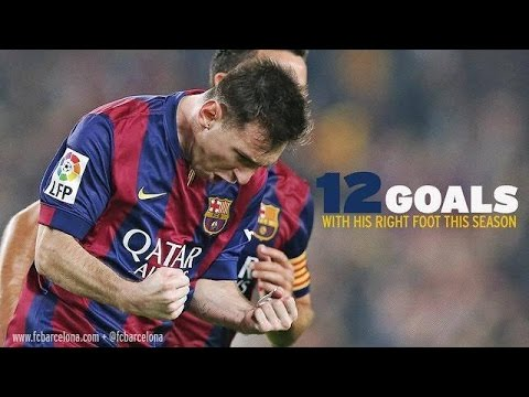 Lionel Messi ● Amazing Right Footed Goals ● 2014-2015 video