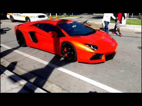 Lamborghini Aventador LP700-4 supercar on the street.Better only Lamborghini Veneno