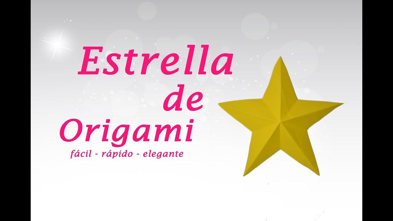 Origami estrella de 5 puntas paso a paso youtube - Origami de una estrella ...
