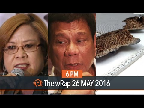 Duterte vs De Lima, Left nominees, MH370 | 6PM wRap