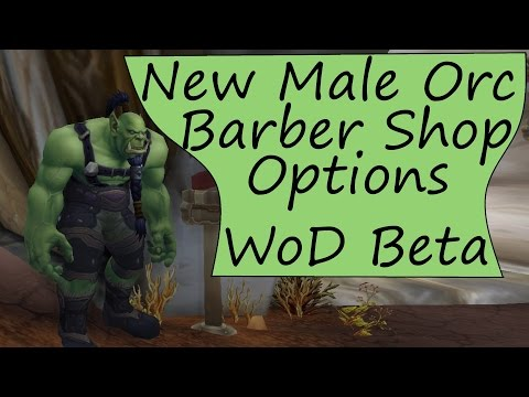 Male Orc Barber Shop Hair and Beard Customization - Warlords of Draenor Beta (WoD)