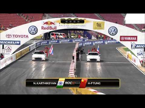 Onboard with Narain Karthikeyan at the Race of Champions 2012