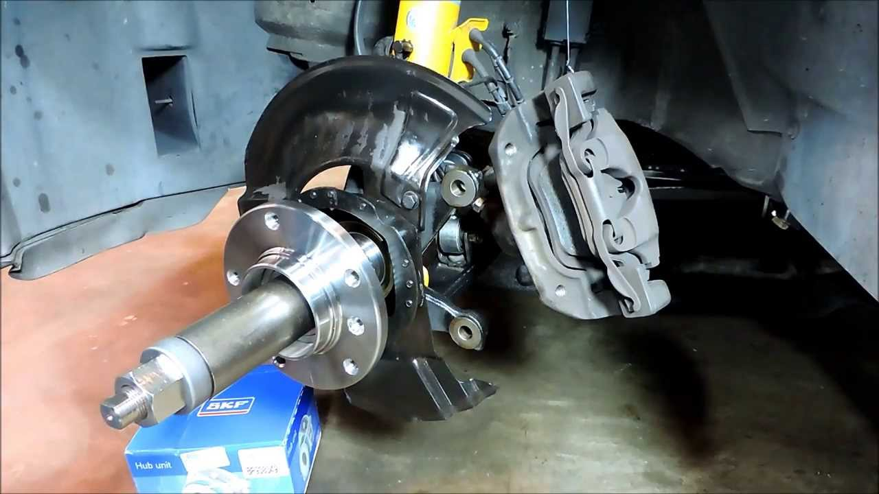 Bmw E36 3 Series Front Wheel Hub Bearing Replacement Youtube