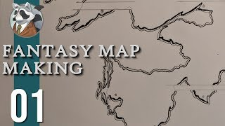 Let's Make a Map!   Fantasy Map Making   Ep.1 Coasts, Mountains, & Rivers