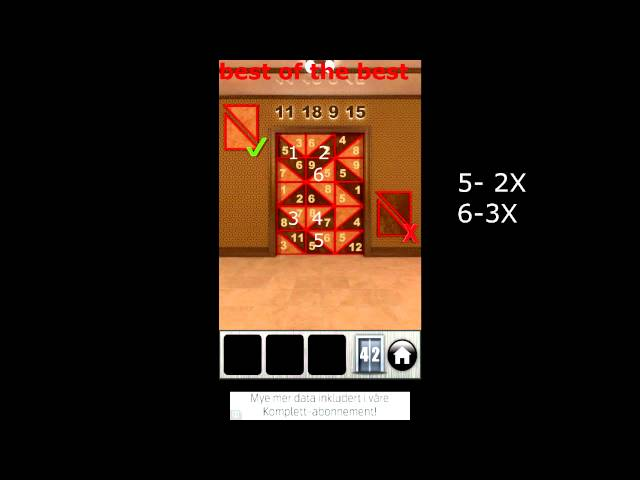 100 Doors Runaway Level 42 Walkthrough