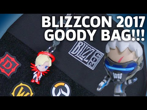BlizzCon 2017 Goody Bag Unboxing | Overwatch, Hearthstone, World of Warcraft & More!
