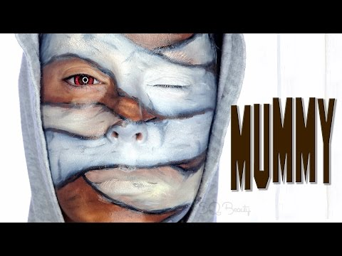 Mummy for kids Halloween makeup tutorial | Silvia Quiros