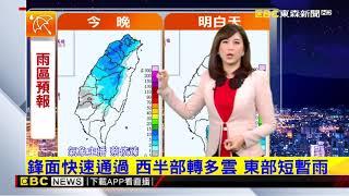 氣象時間 1070121 晚間氣象 東森新聞
