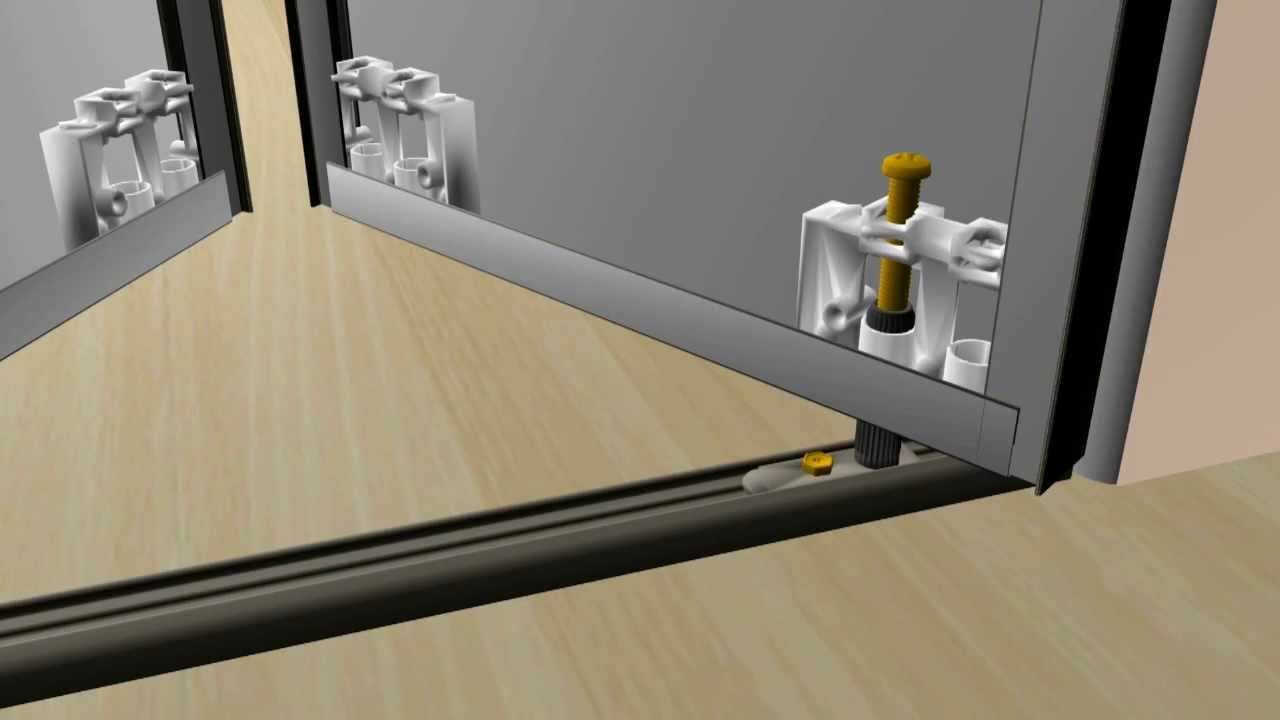 Bifold door bifold door installation video for Door installation