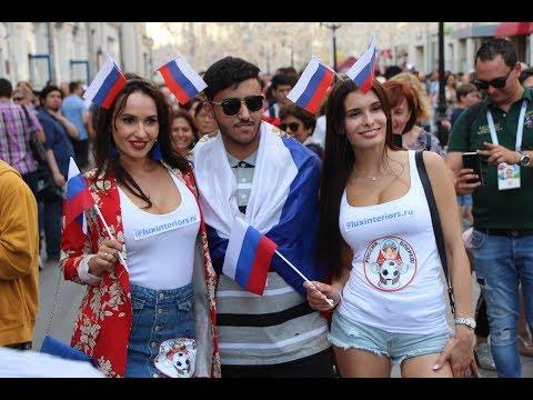 Москва. Футбол. Нашествие фанатов. ЧМ 2018. RUSSIA WORLD CUP FIFA