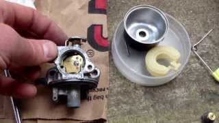 Briggs & Stratton Quantum Engine Carburetor Repair mower started then died immediately)