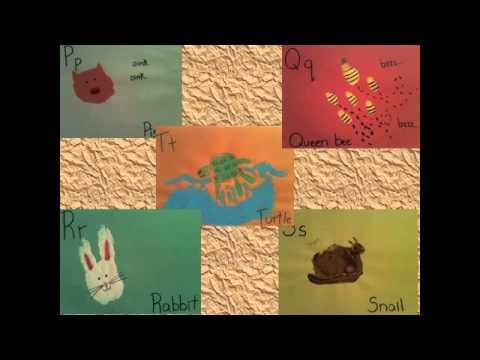 Alphabet Handprint Animals Animal Handprint Alphabet
