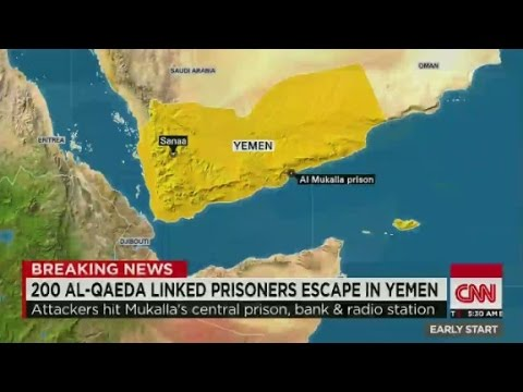 200 al-Qaeda linked prisoners escape in Yemen