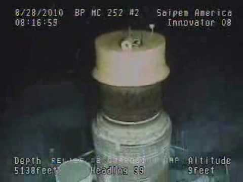 BP Oil Spill - Placing Corrosion Cap on Relief Well #2 - 8/28