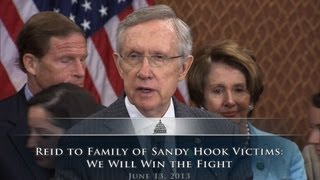 Reid to Family of Sandy Hook Victims: We Will Win the Fight