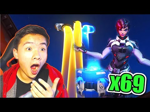 OPENING 69 RETRIBUTION LOOT BOXES + ALL LEGENDARIES UNLOCKED! | Overwatch NEW EVENT w/ Lexi!