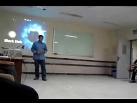 about Black Hole in Persian Gulf University Bushehr- درباره ی سیاهچاله در دانشگاه خلیج فارس بوشهر