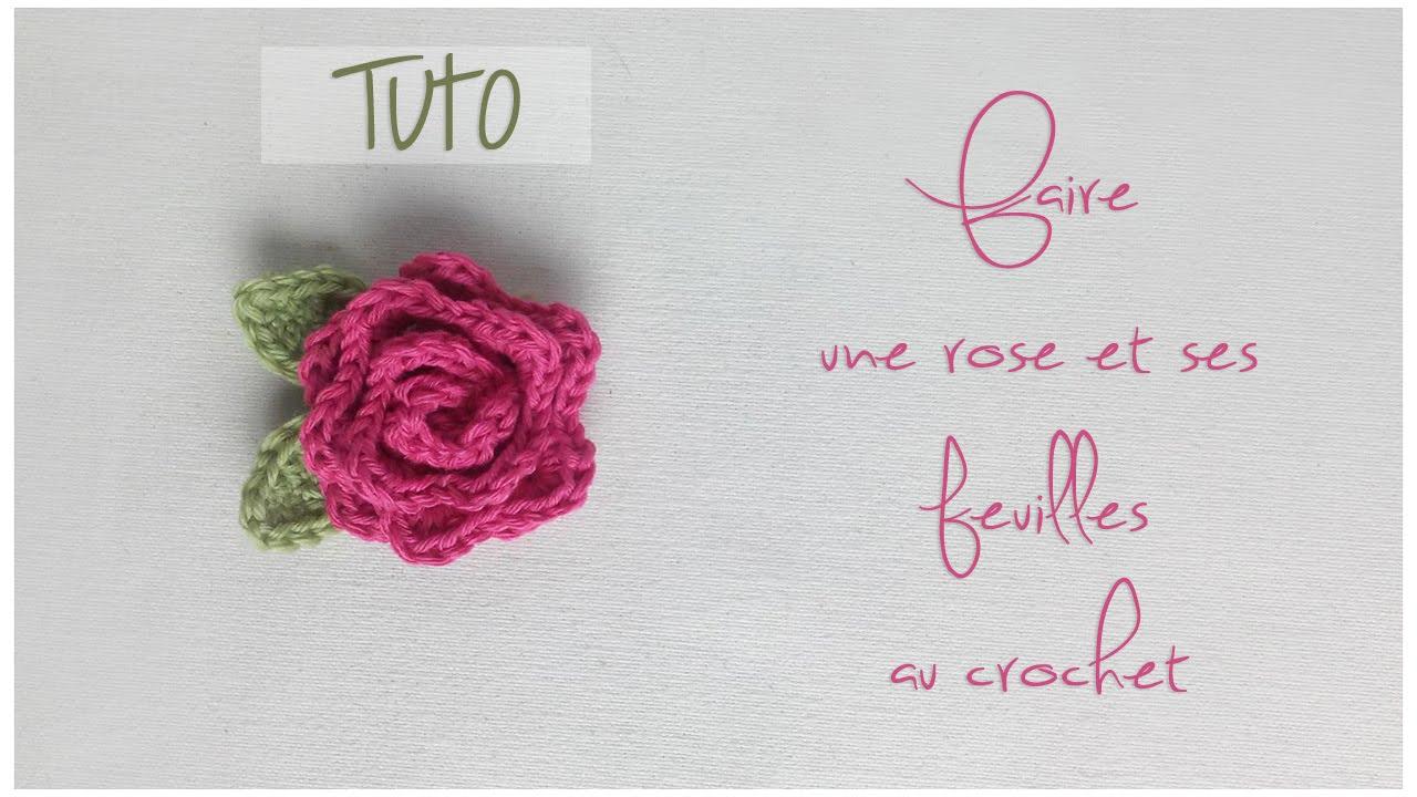 Tuto crochet faire une rose et ses feuilles youtube - Comment faire des rideaux a plis francais ...