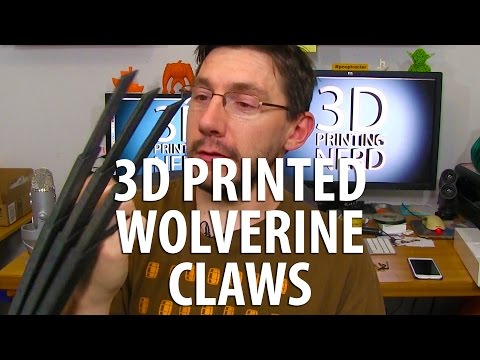 3D Printing Wolverine Claws from Le Fab Shop on my gMax 1.5XT